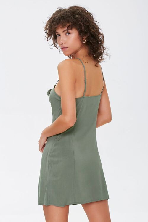 Knotted Bow-Front Cami Mini Dress, image 3