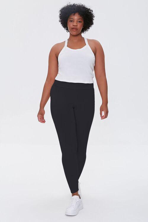 BLACK Plus Size Basic Organically Grown Cotton Leggings, image 5