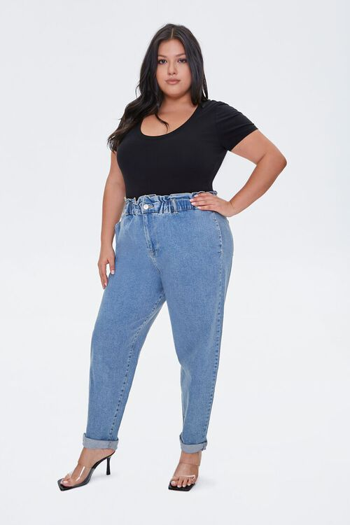 Plus Size Paperbag Ankle Jeans, image 1