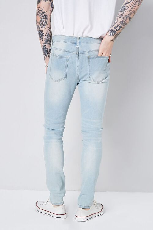 LIGHT DENIM Stonewash Skinny Jeans, image 4