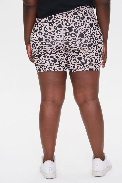 Plus Size Active Leopard Print Biker Shorts, image 4