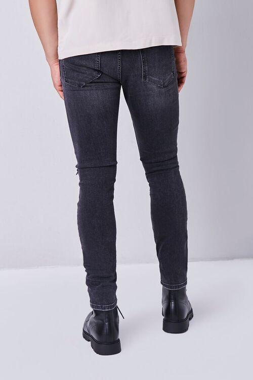WASHED BLACK Premium Distressed Slim-Fit Jeans, image 3