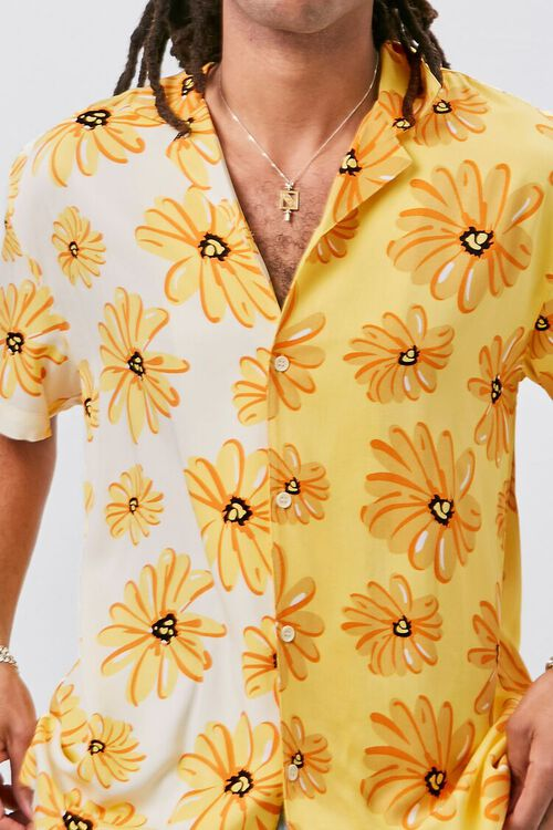 YELLOW/MULTI Classic Fit Floral Print Shirt, image 6
