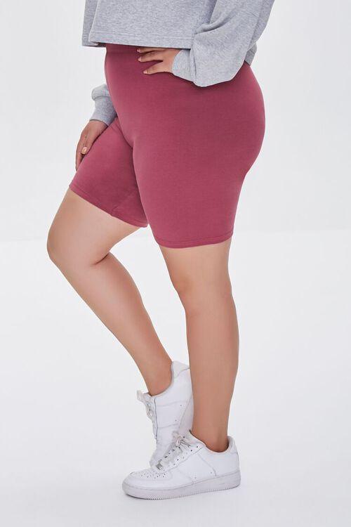 BERRY Plus Size Organically Grown Cotton Basic Biker Shorts, image 3