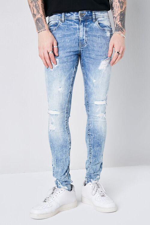 LIGHT DENIM XRay Distressed Stonewash Jeans, image 2