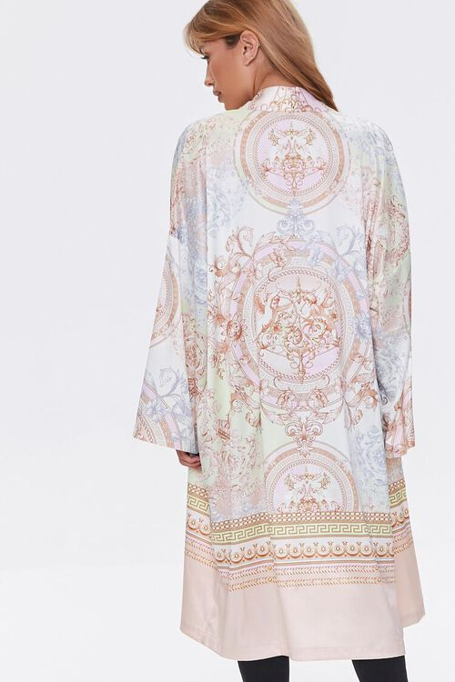 TAUPE/MULTI Ornate Baroque Print Duster Kimono, image 4