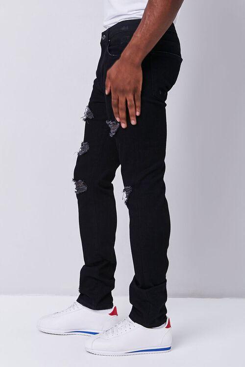 BLACK Premium Distressed Slim-Fit Jeans, image 3