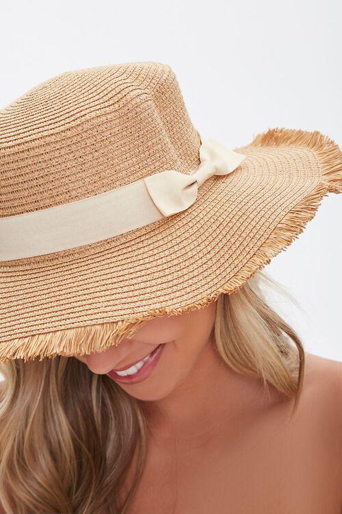 Frayed Straw Boater Hat, image 3