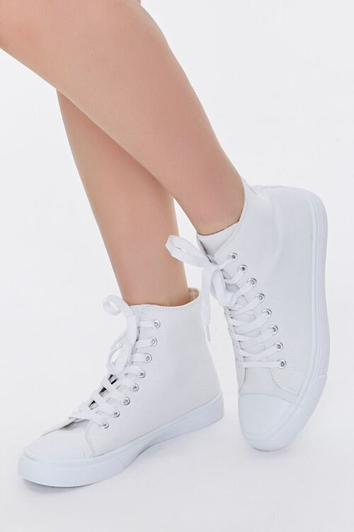 Lace-Up High-Top Sneakers, image 1