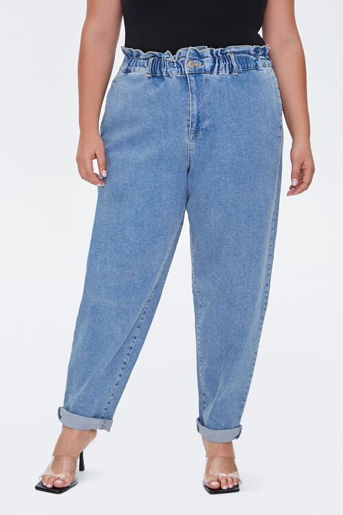 Plus Size Paperbag Ankle Jeans, image 2