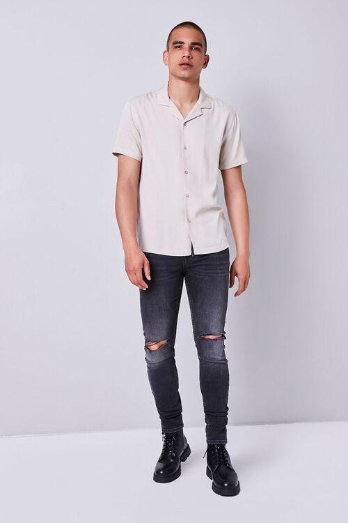 WASHED BLACK Premium Distressed Slim-Fit Jeans, image 4