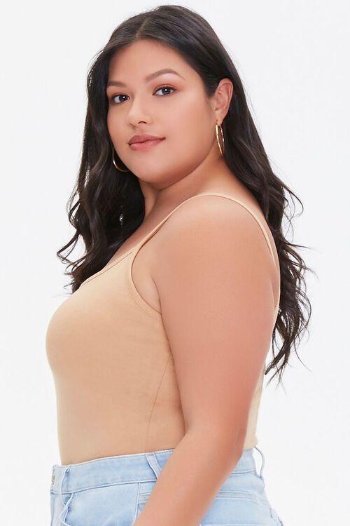 NUDE Plus Size Basic Organically Grown Cotton Bodysuit, image 2