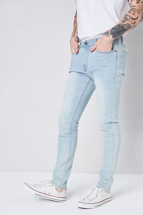 LIGHT DENIM Stonewash Skinny Jeans, image 3