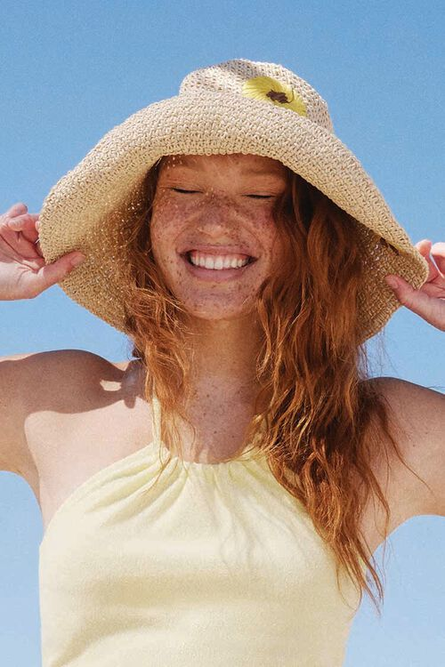 Sunflower Print Bucket Hat, image 1