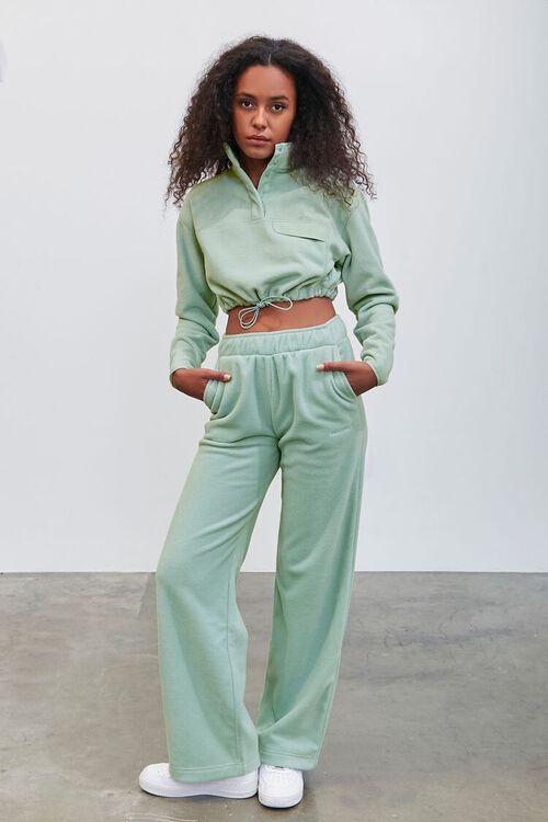 SAGE Pantone Fleece Cropped Pullover, image 4
