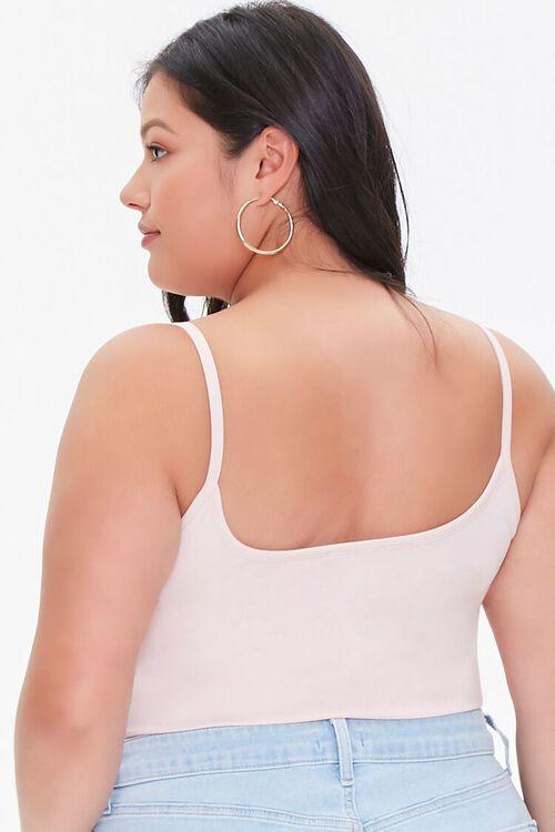 DUSTY PINK Plus Size Basic Organically Grown Cotton Bodysuit, image 3