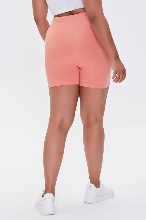 PEACH Plus Size Basic Organically Grown Cotton Biker Shorts, image 4