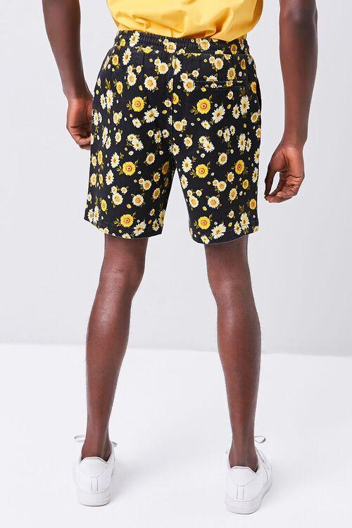 Daisy Print Drawstring Shorts, image 4
