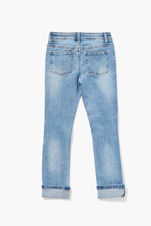 Girls Distressed Cuffed Jeans (Kids), image 2