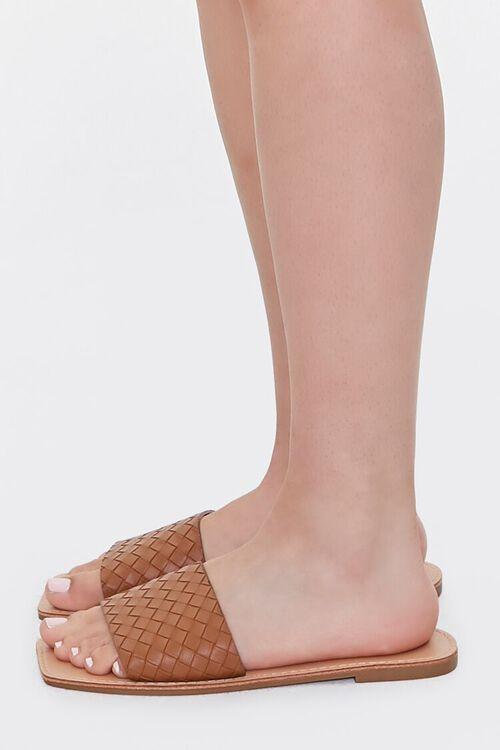 Basketwoven Square-Toe Sandals, image 2