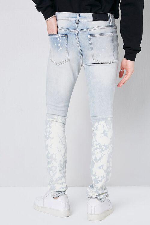 LIGHT DENIM Bleach Wash Distressed Jeans, image 4
