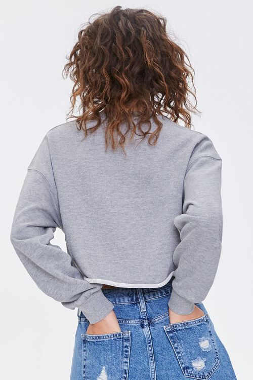 HEATHER GREY French Terry Drop-Sleeve Pullover, image 3
