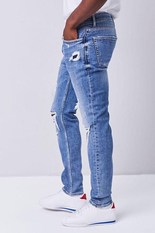 MEDIUM DENIM Distressed Slim-Fit Jeans, image 3