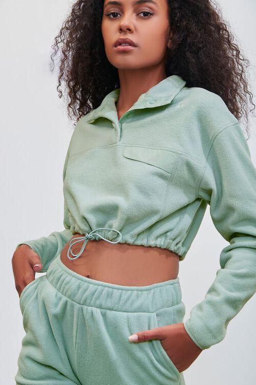 SAGE Pantone Fleece Cropped Pullover, image 1