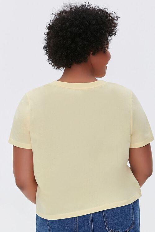 YELLOW Plus Size Basic Organically Grown Cotton Tee, image 3