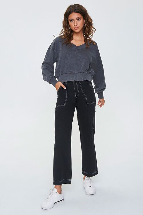 BLACK Active Cropped Pullover, image 4