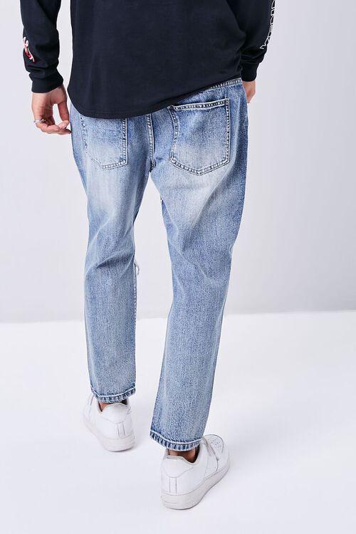 MEDIUM DENIM Distressed Straight-Leg Ankle Jeans, image 4