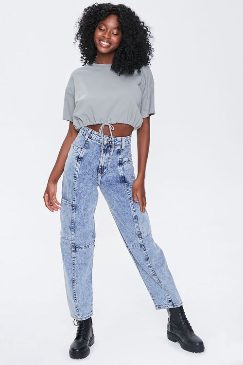 Relaxed Acid Wash Jeans, image 5