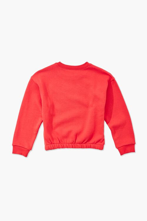 RED/MULTI Girls Be Kind Graphic Sweatshirt (Kids), image 2