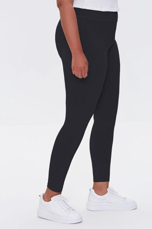 BLACK Plus Size Basic Organically Grown Cotton Leggings, image 3
