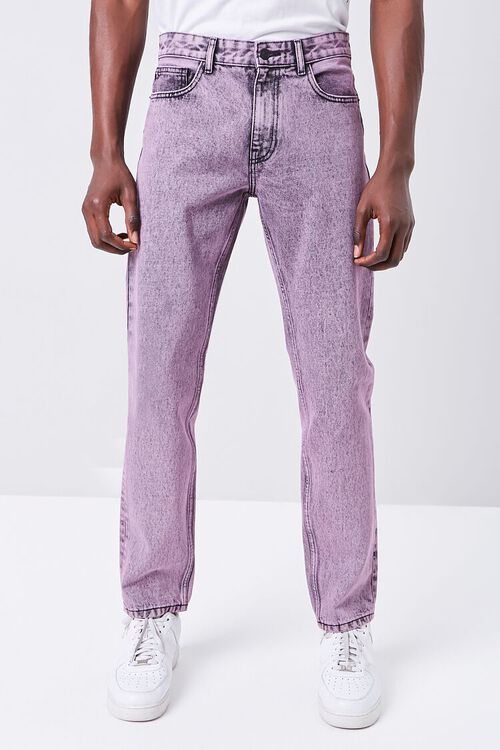 PINK/BLACK Stonewashed Slim-Fit Jeans, image 2