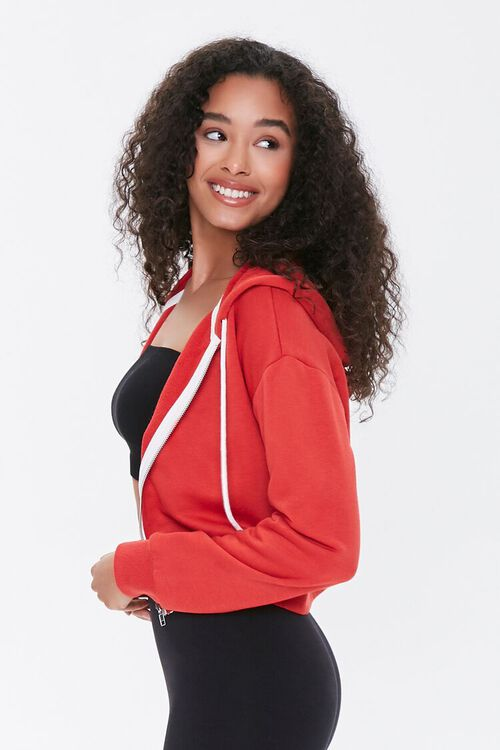 RED French Terry Zip-Up Hoodie, image 2