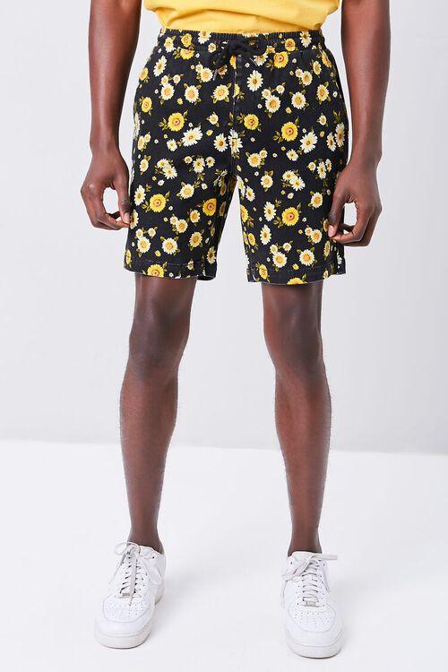 Daisy Print Drawstring Shorts, image 2