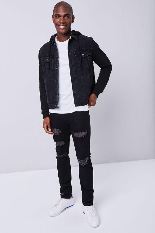 BLACK Premium Distressed Slim-Fit Jeans, image 1