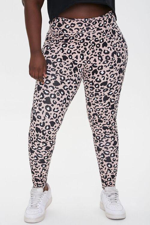 Plus Size Active Leopard Print Leggings, image 2