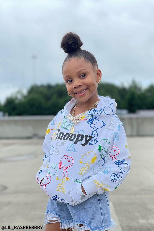 CREAM/MULTI Girls Snoopy Print Hoodie (Kids), image 1
