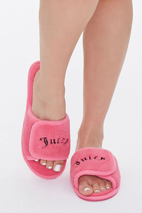 Juicy Graphic Fuzzy Slippers, image 4
