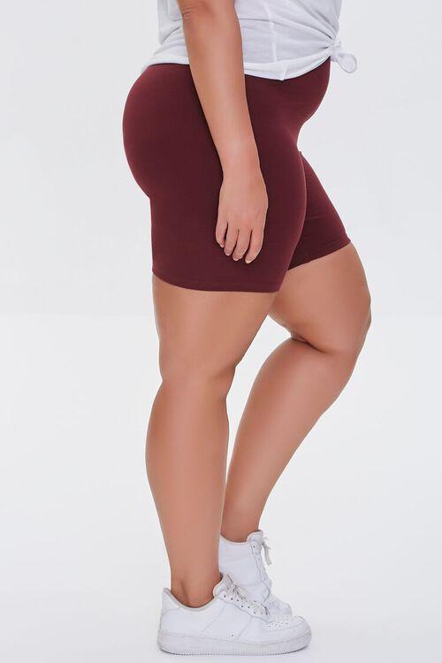 WINE Plus Size Organically Grown Cotton Biker Shorts, image 3