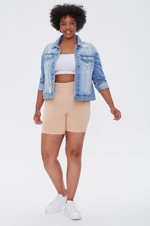 NUDE Plus Size Basic Organically Grown Cotton Biker Shorts, image 5