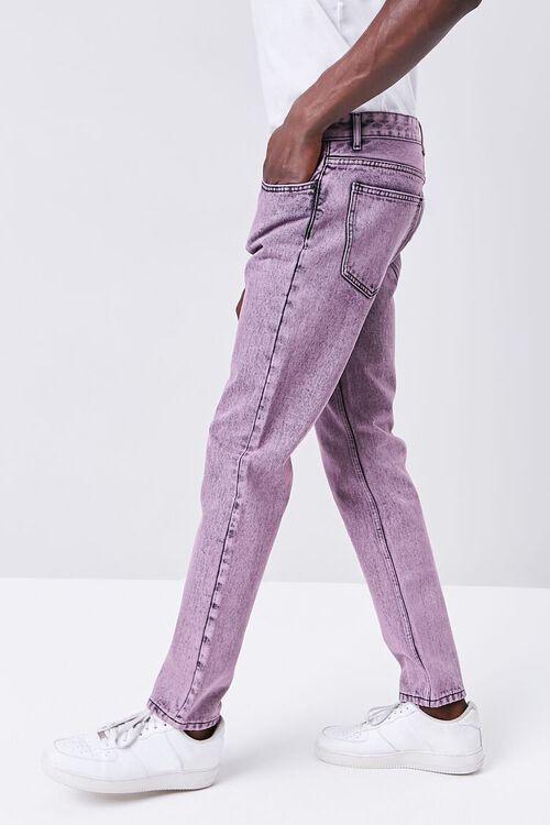 PINK/BLACK Stonewashed Slim-Fit Jeans, image 3