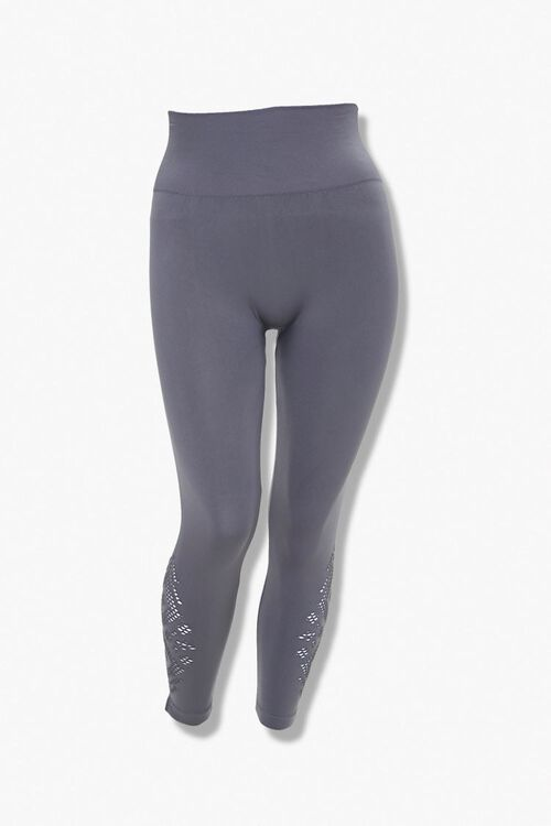 Plus Size Cutout Capri Leggings, image 3