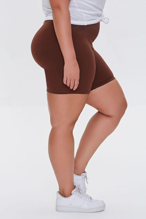 CHOCOLATE Plus Size Organically Grown Cotton Biker Shorts, image 3