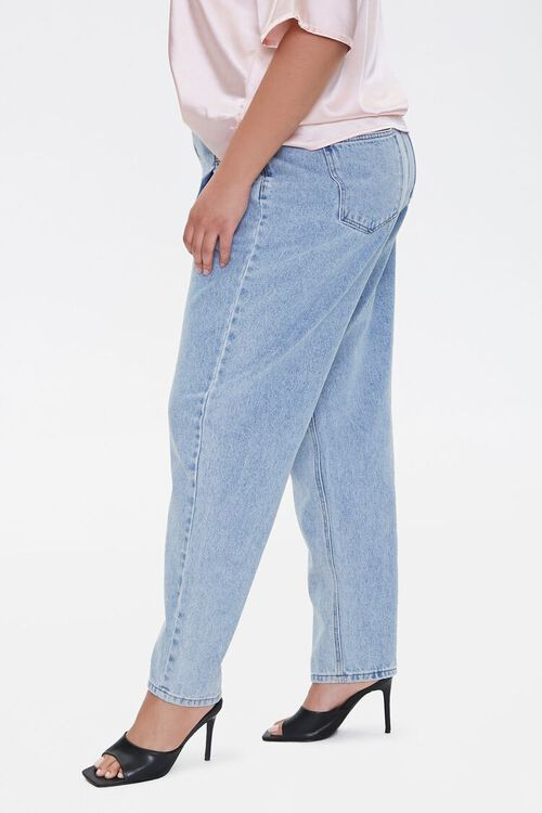 Plus Size Darted Straight-Leg Jeans, image 3