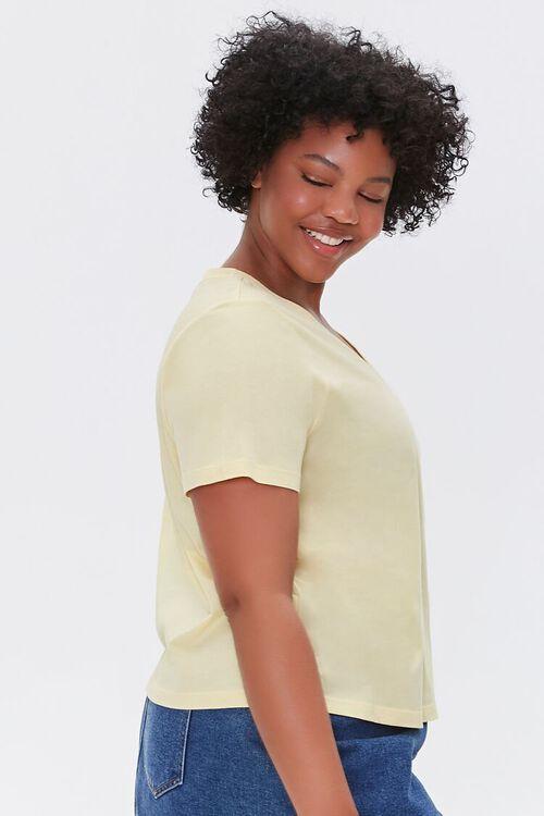YELLOW Plus Size Basic Organically Grown Cotton Tee, image 2