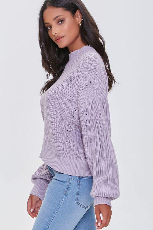 Mock Neck Ribbed Sweater, image 2