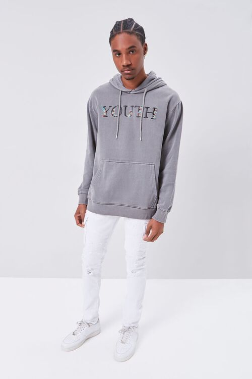 Youth Embroidered Graphic Hoodie, image 4